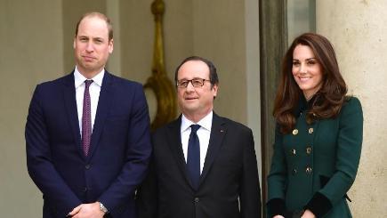 William, Kate meet with survivors of Paris terror attacks