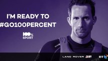 America's Cup: Ben Ainslie's ready to #go100percent. Are you?