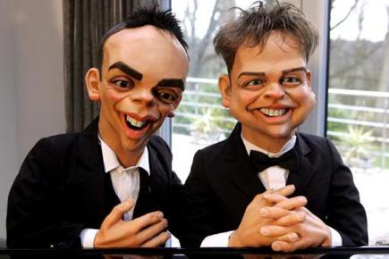 Ant and Dec as Spitting Image characters