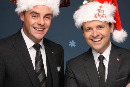 Ant and Dec will present this year's Text Santa show