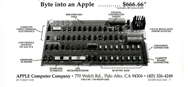 Apple-1 advert