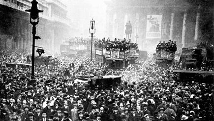 Armistice day celebrations in London
