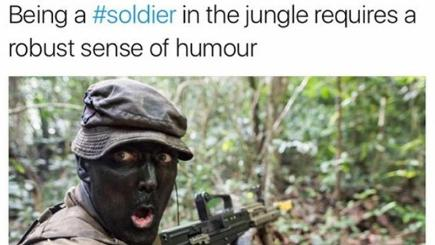 Army under fire for tweet of soldier wearing camouflage