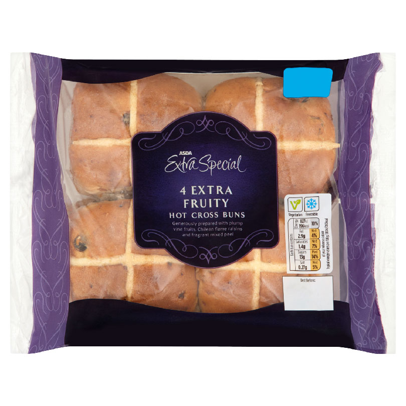 Asda hot cross buns