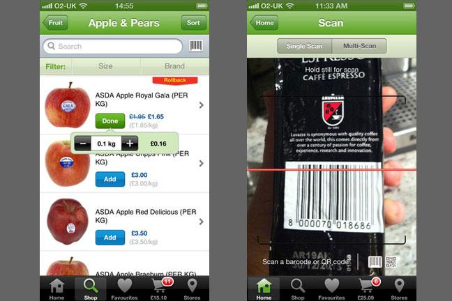 Supermarket shopping apps - review - BT