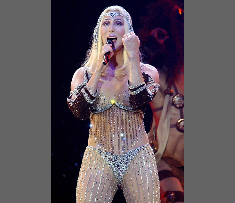 At a 2002 concert in Las Vegas, all eyes were definitely on Cher!