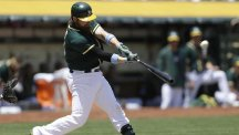 Oakland Athletics' Derek Norris hit a three-run home run in his side's win (AP)