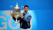 Grigor Dimitrov was victorious at The Queen's Club on Sunday