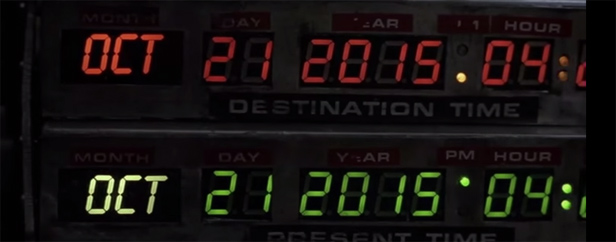 Back to the future 2015 display