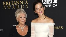 Dame Judi Dench and Emma Watson at the Bafta Los Angeles Britannia Awards