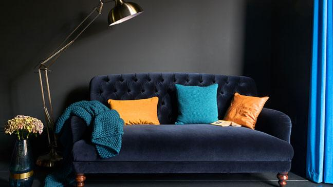 Superbe Bailey Velvet Maxi Sofa, DFS.