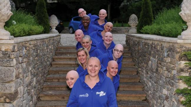 bald women to bare all for charity bt