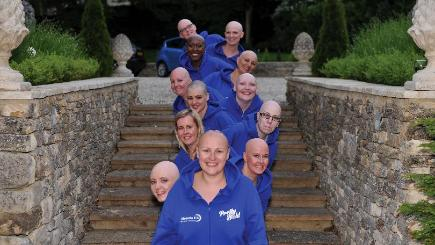 The 12 ladies who took part in a 2015 charity calendar featuring Alopecia sufferers