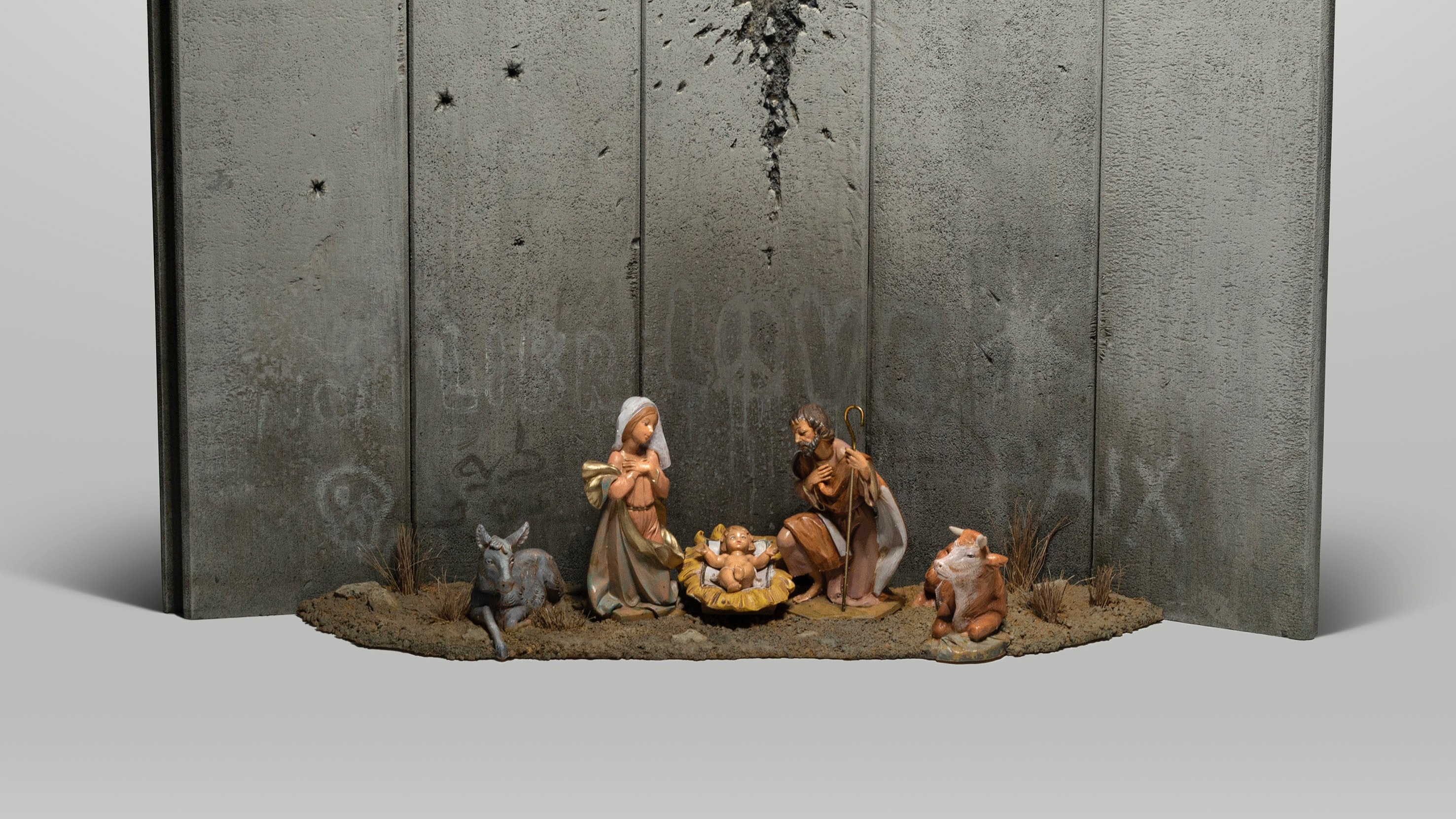 Banksy 'nativity scene' appears in Bethlehem hotel