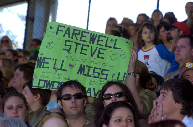 More than 5,000 fans turned up at Irwin's memorial service at his own Australia Zoo.