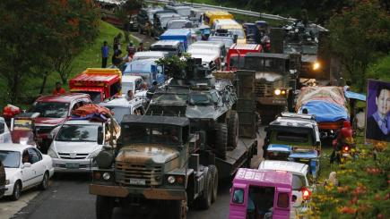 Military making gains against militants in Philippines siege city