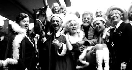 Benny Hill, Sid James, Barbara Windsor & various launching ITV Xmas schedule