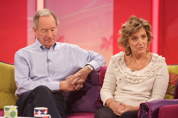 Claire Bertschinger, now Dame Claire, with Michael Buerk in 2011.