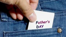 Fathers day card in pocket