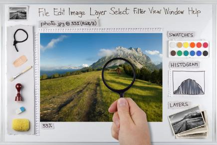 Mock up of photo editing software interface: home.bt.com/techgadgets/internet/free-photo-editing-software-review...
