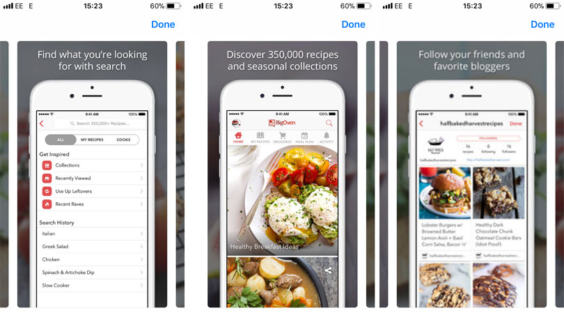 La aplicación Big Oven Best Cooking App para el iPhone 2018