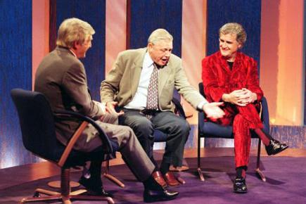 Billy Connolly and David Attenborough on Michael Parkinson's chat show