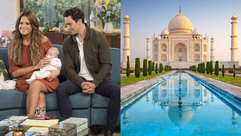 Binky Felstead and JP, India