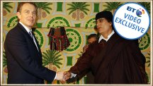 Blair shakes hands with Gaddafi – the story behind the photo