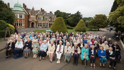Bletchley Park staff who helped defeat Hitler meet 78 years after war's outbreak