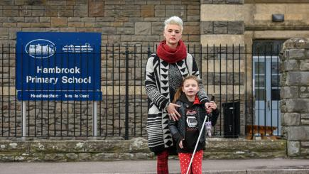 Blind girl banned from using stick