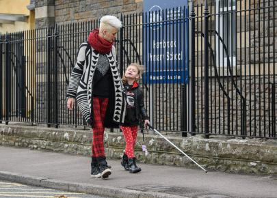 Blind girl banned from using walking stick