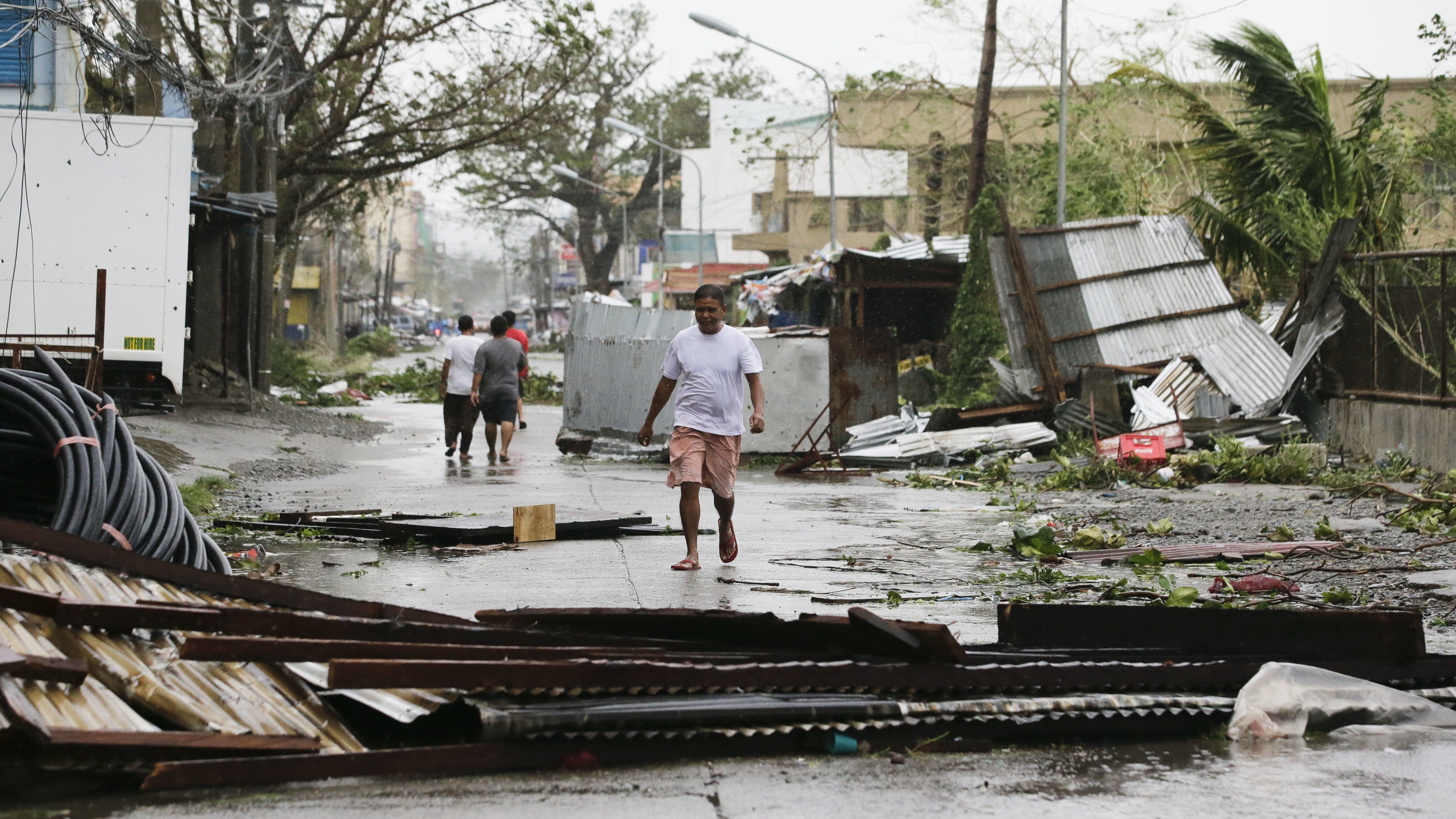 Blinding Rain And Ferocious Winds Lash Philippines As