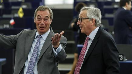'Bloody rude' Juncker could force UK to quit Brexit talks, claims Farage