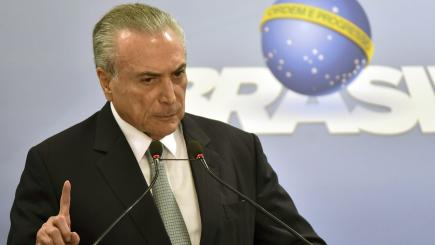 Brazilian president accused of corruption and obstructing justice