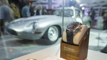 Bremont Watch with an E-Type Jaguar in the background