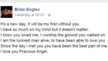 Brian Engles' heartbreaking Facebook post after his wife Christa was accidentally shot by their three-year-old son
