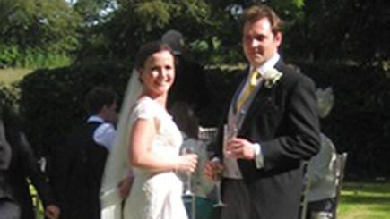 Caroline and James Granshaw suffered a devastating theft on their wedding day