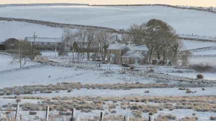 Snow has returned to parts of Britain