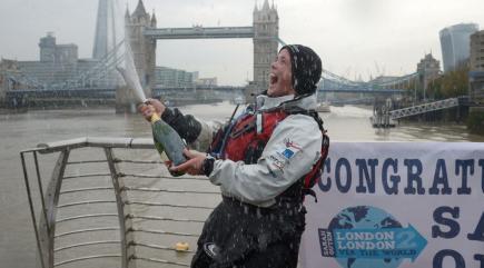 British adventurer returns triumphant from 25,000-mile ...