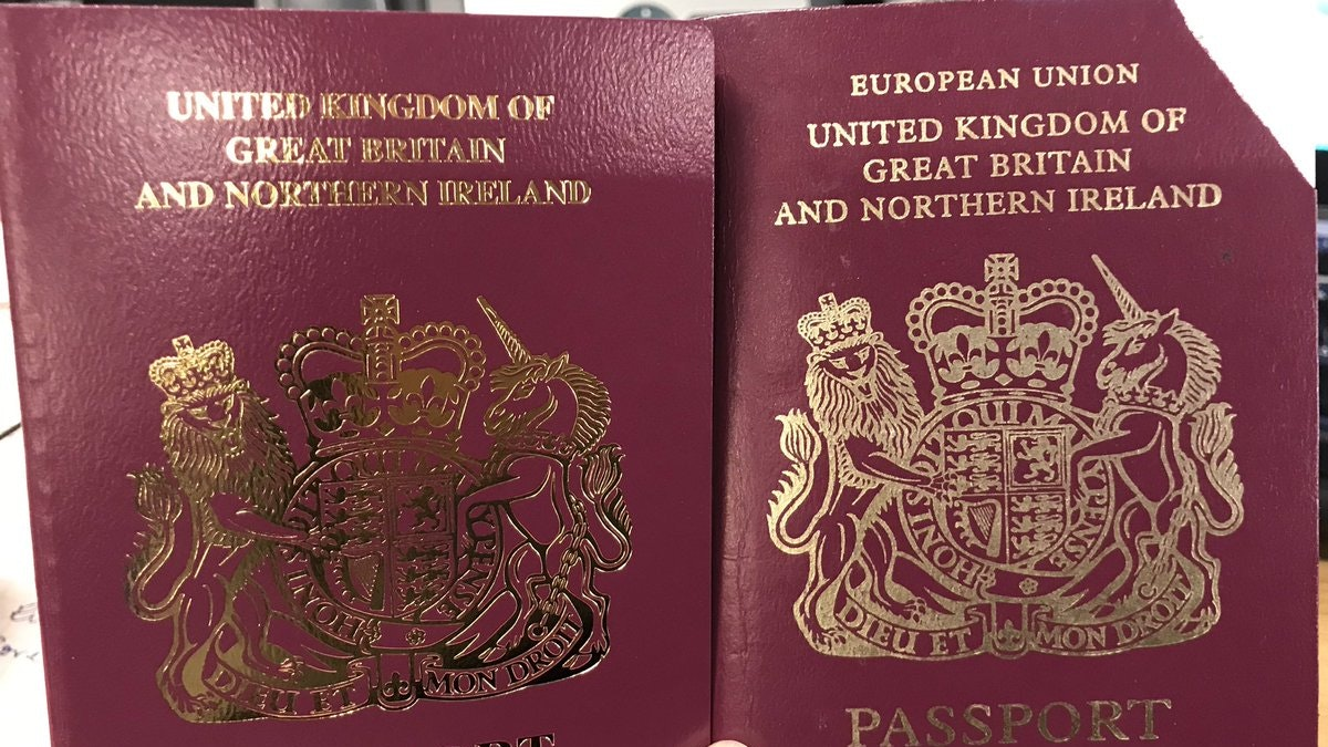 Britain scraps 'European Union' from its passports, despite Brexit delay