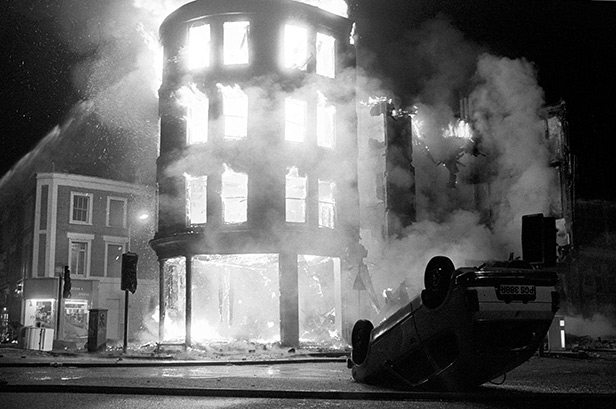 Brixton burns during a night of rioting