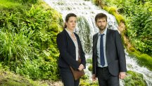Olivia Colman and David Tennant in Broadchurch.  Photo credit: ITV