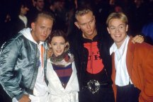 Bros, Kylie and Jason Donovan at the Band Aid II recording