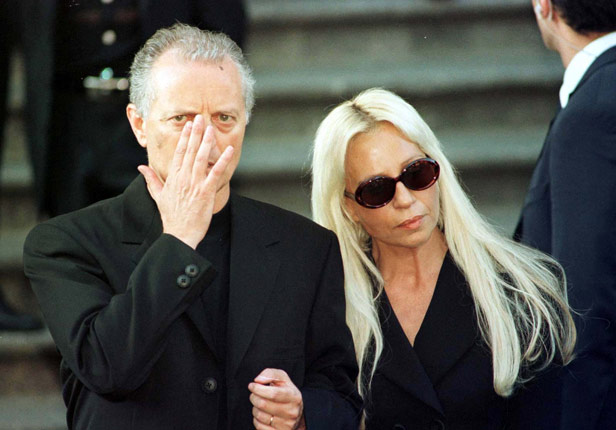 Gianni Versace's brother and sister, Santo and Donatella, who took over his fashion house after his death.