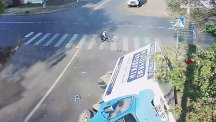 Brush with death: See lucky cyclist's amazing escape