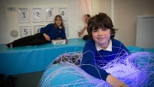 BT-funded sensory room improves lives of disabled youngsters in Barnstaple