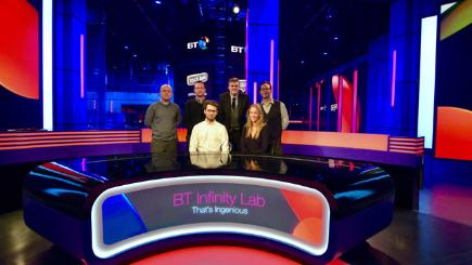 BT Infinity Lab judges in BT Sport Studio including J