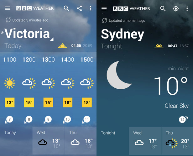 Bbc weather (android) reviews at android quality index.