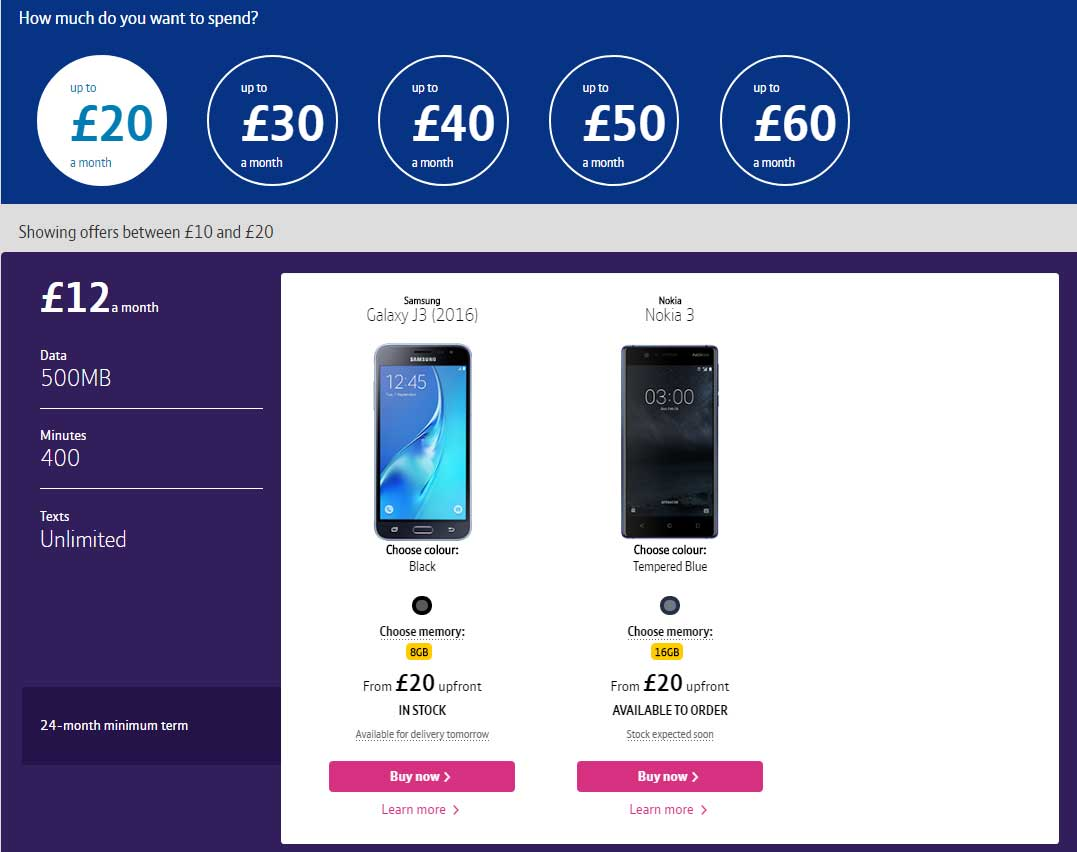 BT Mobile how much to spend