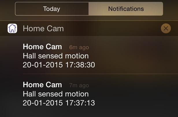 BT Smart Cam notifications